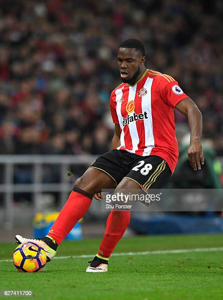 Victor Anichebe of Sunderland in action during the Premier League match between Sunderland and Leicester City at Stadium of Light on December 3, 2016...