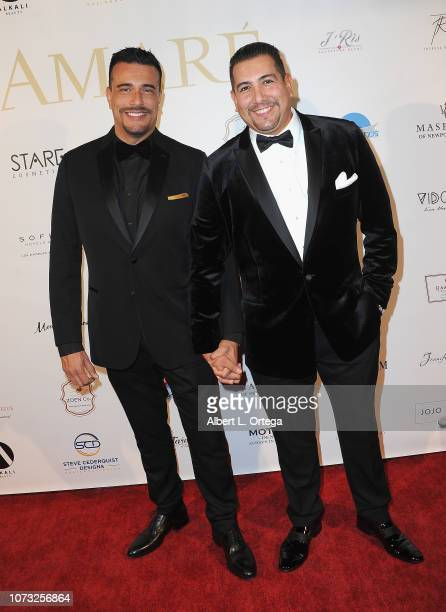 Victor Arreola and Joseph Chavez attend the Amare's Second Year Anniversary 'Believe Issue' Party held at Sofitel Los Angeles At Beverly Hills on...
