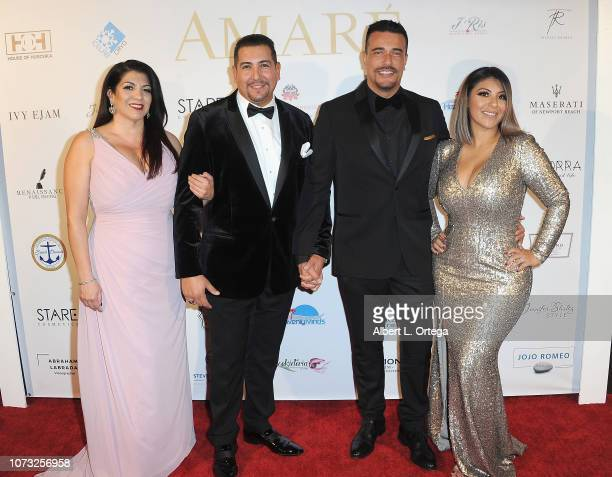 Victor Arreola and Joseph Chavez with guests attend the Amare's Second Year Anniversary 'Believe Issue' Party held at Sofitel Los Angeles At Beverly...