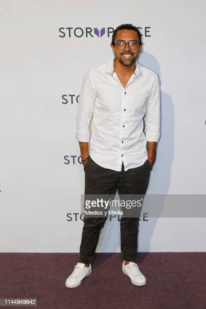 Victor Baron poses for photos during 'Story Place' App Red Carpet on April 24 2019 in Mexico City Mexico