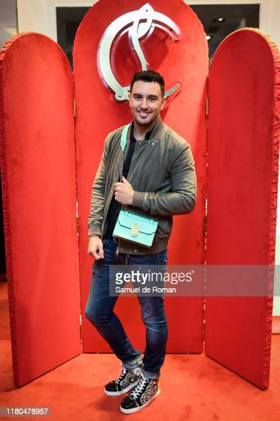 Victor Blanco attends the ELISA bag collection presentation at the Christian Louboutin store on November 6 2019 in Madrid Spain
