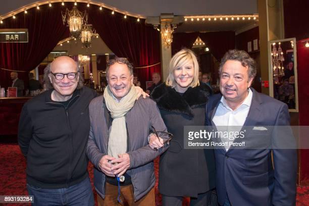 Victor Bosh Michel Ansault Chantal Ladesou and Frederic Jerome attend Michel Leeb 40 ans Theater Show at Casino de Paris on December 14 2017 in Paris...