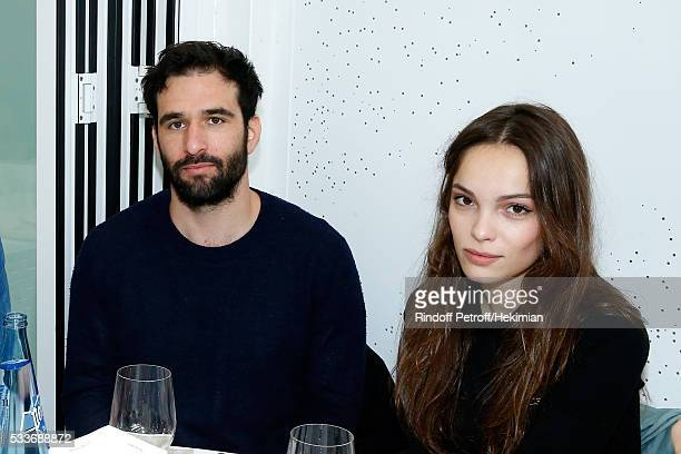 Victor Boyer and actress Lola Le Lann attend the 2016 French Tennis Open Day Two at Roland Garros on May 23 2016 in Paris France