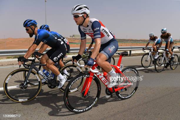 Victor Campenaerts of Belgium and NTT Pro Cycling Team / Charles Quarterman of United Kingdom and Team Trek Segafredo / during the 6th UAE Tour 2020...