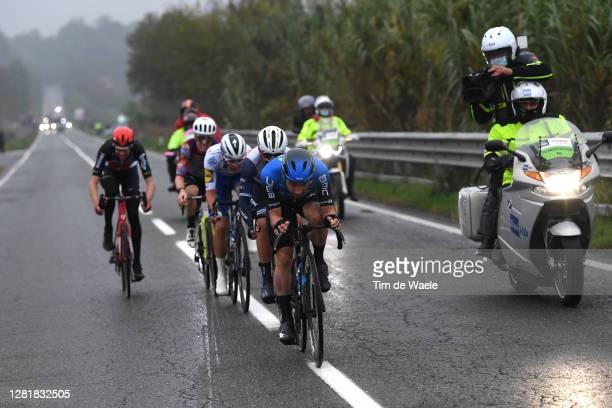 Victor Campenaerts of Belgium and NTT Pro Cycling Team / Jacopo Mosca of Italy and Team Trek - Segafredo / Iljo Keisse of Belgium and Team Deceuninck...