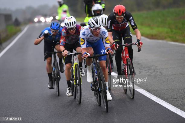 Victor Campenaerts of Belgium and NTT Pro Cycling Team / Simon Clarke of Australia and Team EF Pro Cycling / Iljo Keisse of Belgium and Team...