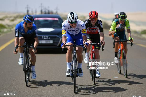 Victor Campenaerts of Belgium and NTT Pro Cycling Team / Stijn Steels of Belgium and Team Deceuninck - Quick - Step / Jasper De Buyst of Belgium and...