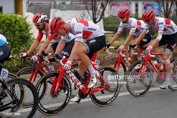 Victor Campenaerts of Belgium and Team Lotto Soudal / Ryan Mullen of Ireland and Team Trek-Segafredo / Kiel Reijnen of The United States and Team...