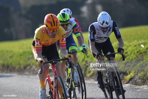 Victor Campenaerts of Belgium and Team Qhubeka Assos, during the 53rd Grand Prix Le Samyn 2021, Men's Elite a 205,4km race from Quaregnon to Dour /...