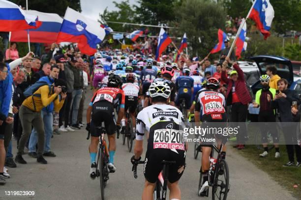 Victor Campenaerts of Belgium and Team Qhubeka Assos in the Breakaway passing through Slovenia - Gornje Cerovo during the 104th Giro d'Italia 2021,...