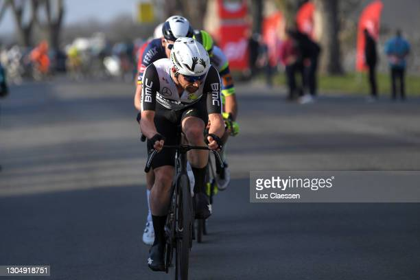 Victor Campenaerts of Belgium and Team Qhubeka Assos & Sep Vanmarcke of Belgium and Team Israel Start-Up Nation during the 53rd Grand Prix Le Samyn...