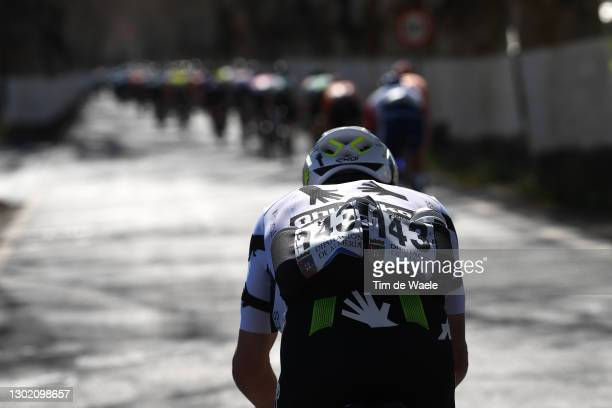 Victor Campenaerts of Belgium and Team Team Qhubeka Assos during the 34th Clásica de Almeria 2021 a 183,3km race from Pueblo de Vicar to Roquetas de...