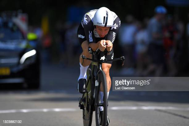 Victor Campenaerts of Belgium during the 122th Belgian Road Championship 2021 - Men's Individual Time Trial a 37,6km race from Ingelmunster to...