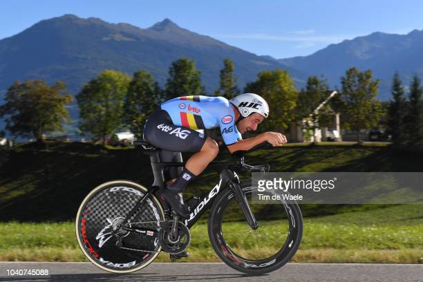 Victor Campenaerts of Belgium / during the Men Elite Individual Time Trial a 525km race from Rattenberg to Innsbruck 582m at the 91st UCI Road World...