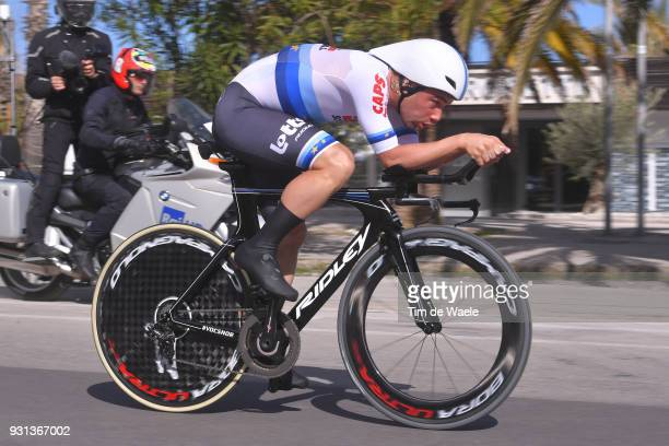 Victor Campenaerts of Belgium European Champion Jersey during the 53rd TirrenoAdriatico 2018 Stage 7 a 105km Individual Time Trial stage in San...