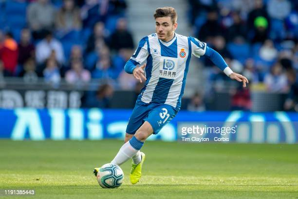 Victor Campuzano of Espanyol in action during the Espanyol V Osasuna La Liga regular season match at RCDE Stadium on December 1st 2019 in Barcelona...