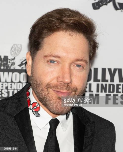 Victor Cardenas arrives at A Dark Foe Film Premiere on February 15 2020 in Los Angeles California