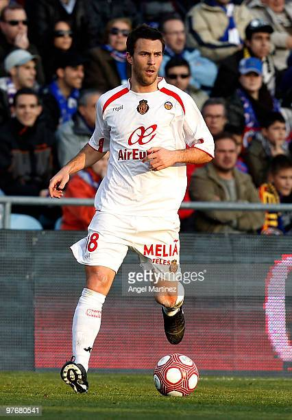 Victor Casadesus of Mallorca in action during the La Liga match between Getafe and Mallorca at Coliseum Alfonso Perez on March 13 2010 in Getafe Spain