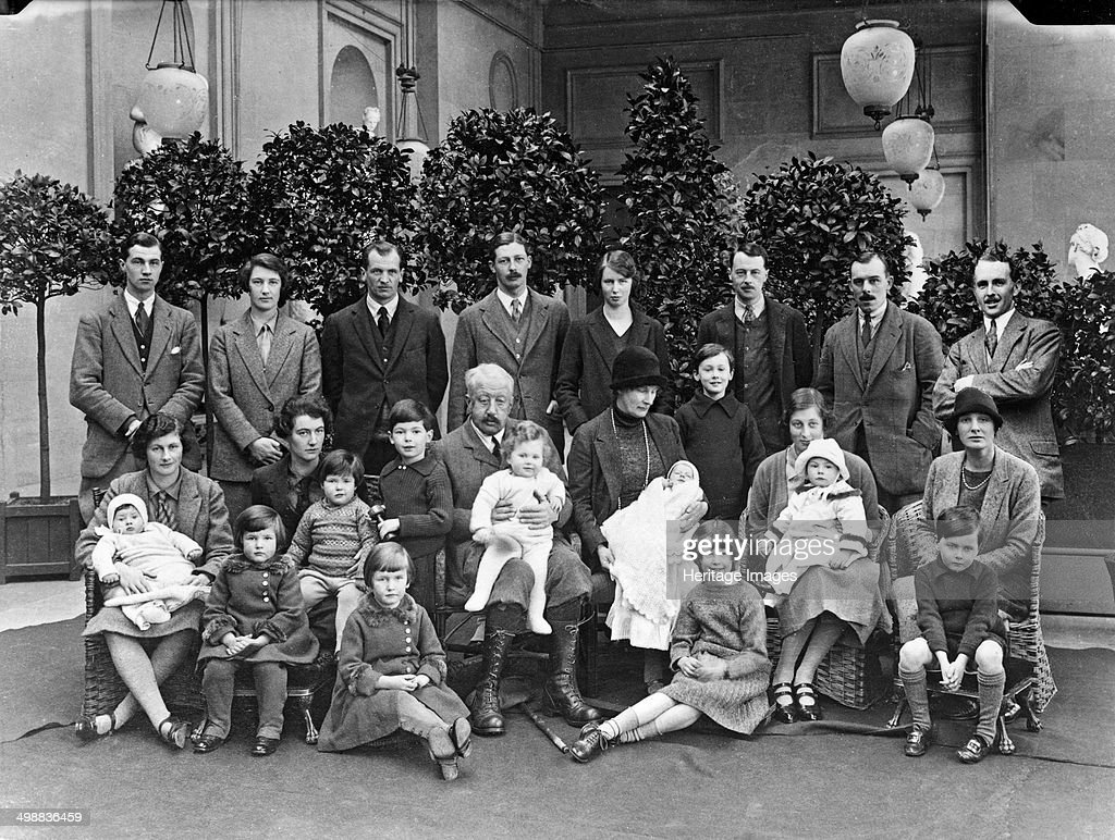 The 9th Duke of Devonshire with his children and grandchildren at Chatsworth, Christmas 1925. Artist: JR Board : News Photo