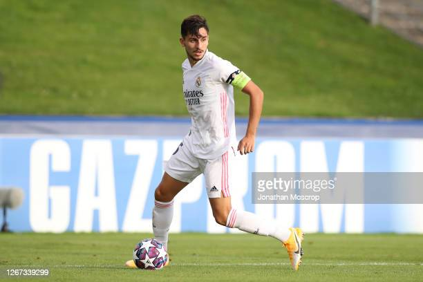 Victor Chust of Real Madrid during the UEFA Youth League Quarter Final match between Internazionale and Real Madrid at Colovray Sports Centre on...
