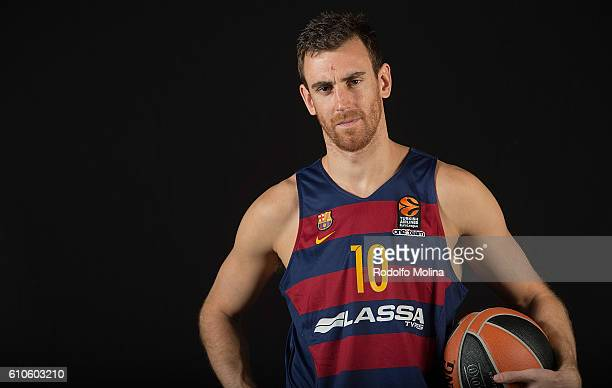 Victor Claver #10 of FC Barcelona Lassa poses during the 2016/2017 Turkish Airlines EuroLeague Media Day at Palau Blaugrana on September 26 2016 in...