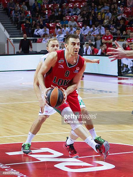 Victor Claver #9 of Lokomotiv Kuban Krasnodar in action during the Turkish Airlines Euroleague Basketball Regular Season Round 8 game between...