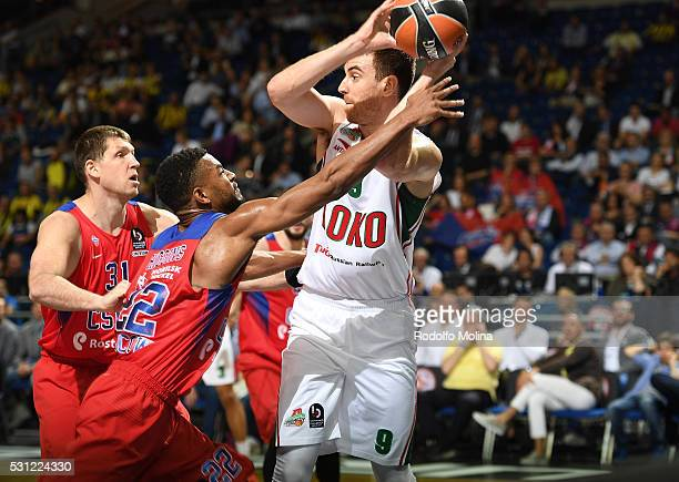 Victor Claver #9 of Lokomotiv Kuban Krasnodar in action during Turkish Airlines Euroleague Final Four Berlin 2016 Semifinal 2 CSKA Moscow v Lokomotiv...