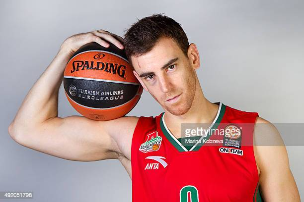 Victor Claver of Lokomotiv Kuban Krasnodar poses during the 2015/2016 Turkish Airlines Euroleague Basketball Media Day at Basket Hall on October 9...