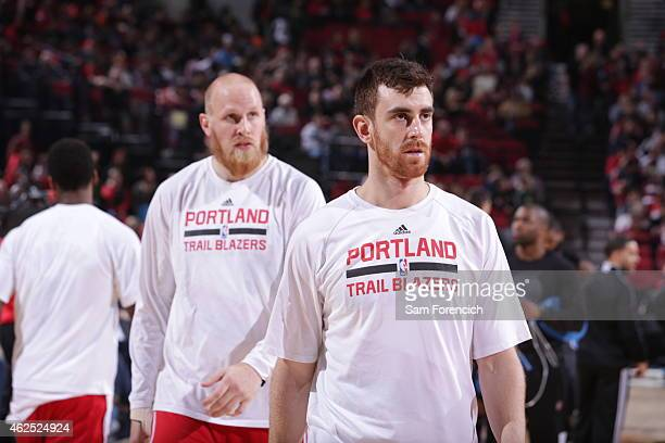 Victor Claver of the Portland Trail Blazers before the game against the Orlando Magic on January 10 2015 at the Moda Center Arena in Portland Oregon...