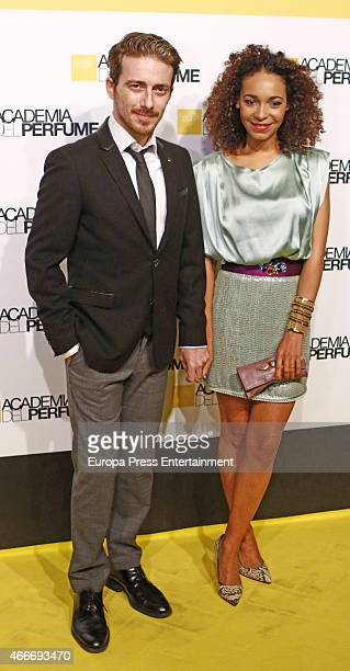 Victor Clavijo and Montse Pla attend 'Academia del Perfume' 2015 awards at Casa America on March 17 2015 in Madrid Spain