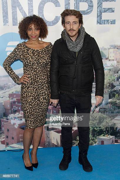 Victor Clavijo and Montse Pla attend 'El principe' premiere at Callao cinema on January 30 2014 in Madrid Spain