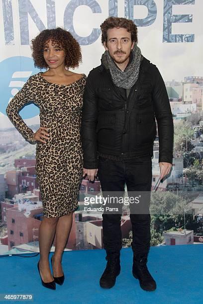 Victor Clavijo and Montse Pla attend 'El principe' premiere at Callao cinema on January 30 2014 in Madrid Spain