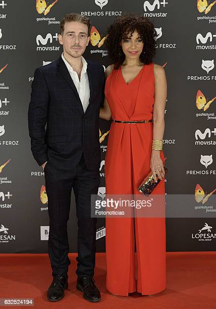 Victor Clavijo and Montse Pla attend the 2016 Feroz Awards ceremony at the Palacete de los Duques de Pastrana on January 23 2017 in Madrid Spain