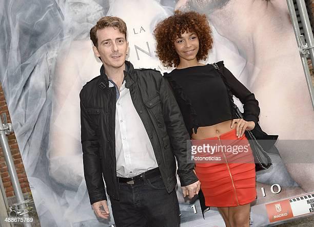 Victor Clavijo and Montse Pla attend the 'La Venus de las Pieles' premiere photocall at Matadero de Madrid theatre on May 7 2014 in Madrid Spain