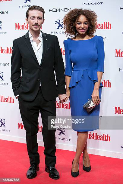 Victor Clavijo and Montse Pla attend the 'Men's Health' awards gala at Goya Theatre on October 28 2014 in Madrid Spain