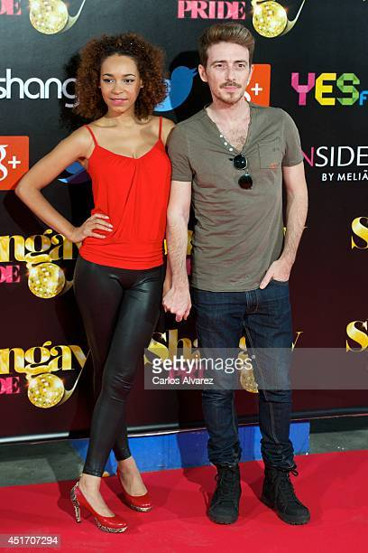 Victor Clavijo and Montse Pla attend the Shangay Pride concert at the Vicente Calderon stadium on July 4 2014 in Madrid Spain