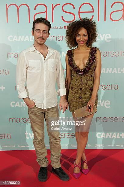 Victor Clavijo and Montse Pla attends the Marsella premiere at the Capitol cinema on July 17 2014 in Madrid Spain