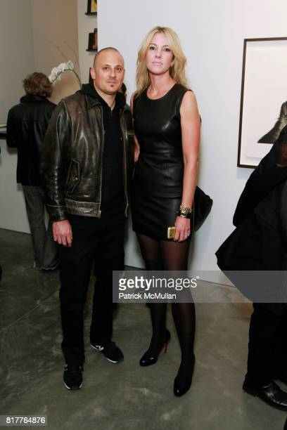 Victor Cobo and Sarah Hasted attend ALBERT WATSON Artist Reception at Hasted Kraeutler Gallery on October 21 2010 in New York City