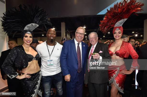 Victor Cohen, Ron Jaworski, and Oscar Goodman attend day two of the 33rd annual Nightclub & Bar Convention and Trade Show on March 27, 2018 in Las...