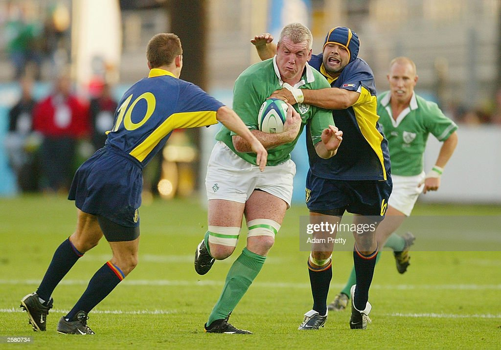 Victor Costello of Ireland in action : News Photo