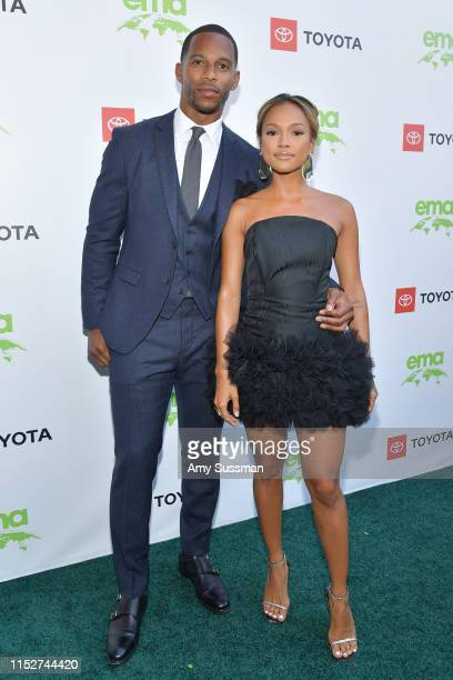 Victor Cruz and Karrueche Tran attend the 29th Annual Environmental Media Awards at Montage Beverly Hills on May 30, 2019 in Beverly Hills,...