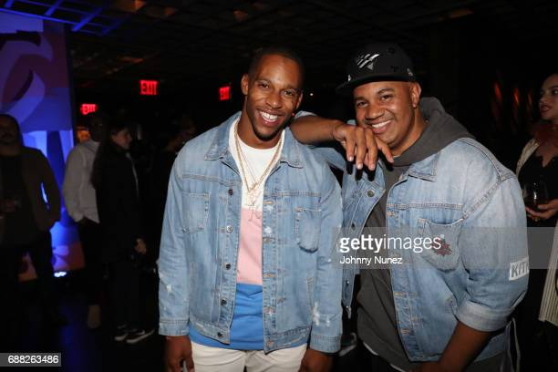 Victor Cruz and Lenny Santiago attend the New York Screening of The Defiant Ones at iPic Theater on May 24 2017 in New York City