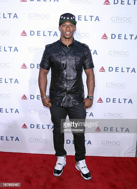 Victor Cruz attends as Delta Air Lines celebrate the opening night of T4X a pop up experience showcasing distinctive features of the airline's newly...