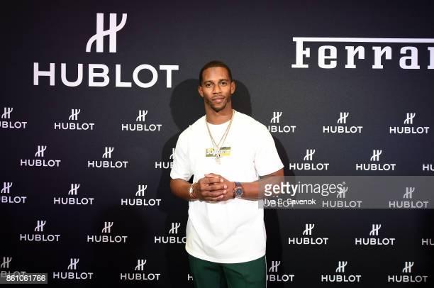 Victor Cruz attends Hublot Celebrates Ferrari's 70th Anniversary In New York City With Victor Cruz on October 7 2017 in New York City