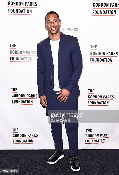 Victor Cruz attends the 2016 Gordon Parks Foundation Awards Dinner at Cipriani 42nd Street on May 24 2016 in New York City