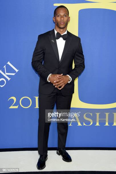 Victor Cruz attends the 2018 CFDA Fashion Awards at Brooklyn Museum on June 4 2018 in New York City