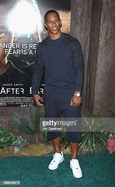 Victor Cruz attends the 'After Earth' premiere at the Ziegfeld Theater on May 29 2013 in New York City