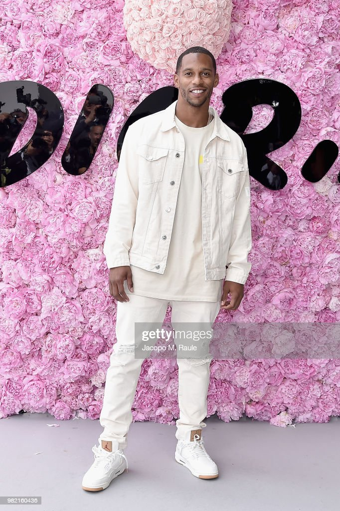Victor Cruz attends the Dior Homme Menswear Spring/Summer 2019 show as part of Paris Fashion Week on June 23, 2018 in Paris, France.