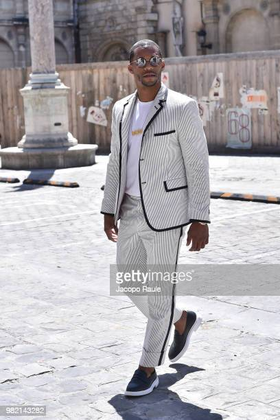 Victor Cruz attends the Thom Browne Menswear Spring/Summer 2019 show as part of Paris Fashion Week on June 23 2018 in Paris France