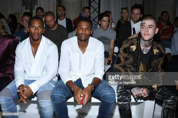 Victor CruzBrice Butler and Lil Peep attend the Balmain Menswear Spring/Summer 2018 show as part of Paris Fashion Week on June 24 2017 in Paris France